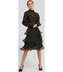 trendyol ruffle detail skirt - black