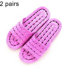 2 pares hombres y mujeres antideslizante baño ducha zapatillas sandalias para parejas adultas, talla: eu 36 / 37 (purpura)