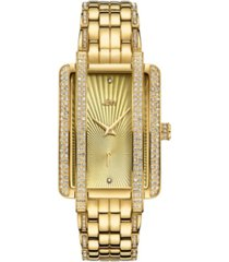 jbw women's mink diamond (1/8 ct.t.w.) 18k gold plated stainless steel watch