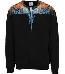 marcelo burlon wings print sweatshirt