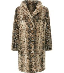 fake fur-jas animal-print van emilia lay beige