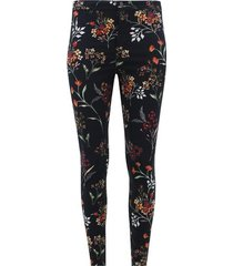 pantalón estampado flores color negro, talla 10