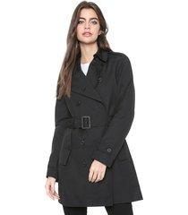 casaco trench coat ellus twill preto