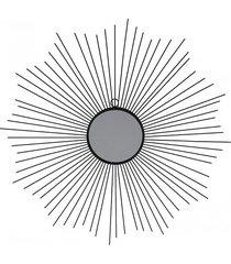 lustro metalowe słońce 64 cm czarne