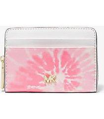 mk portafoglio piccolo motivo tie-dye - shell pink - michael kors