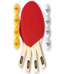 joola hit table tennis set includes 4 hit rackets, 8 balls carrying case