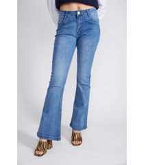 jeans flare push up azul sioux