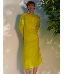 jedwabna sukienka limoncello
