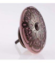 puxador- pashmina- puxador porta ceramica- rosa