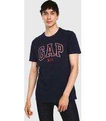 camiseta azul navy-rojo-blanco gap