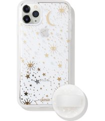 sonix cosmic iphone 11 pro max case & slide silicone phone ring - white