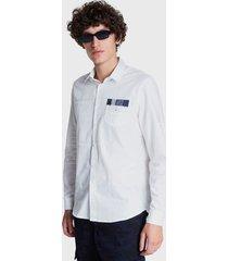 camisa desigual regular luis blanco - calce regular