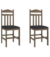 conjunto de cadeiras móveis canção 200 2 peças madeira