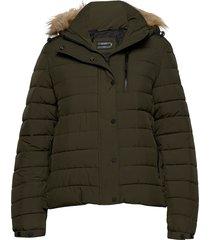classic faux fur fuji jacket fodrad jacka grön superdry