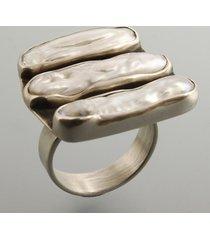 3 pearl - pierścionek