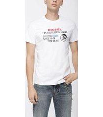camiseta diesel t-diego-xb branca