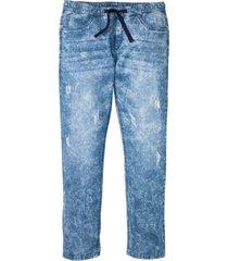 jeans elasticizzati con elastico in vita straight (blu) - rainbow