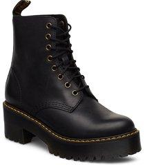 shriver hi black burnished wyoming shoes boots ankle boots ankle boot - heel svart dr. martens