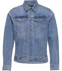 3301 slim jkt jeansjack denimjack blauw g-star raw