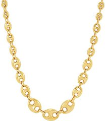 14k yellow gold grad mariner chain necklace/18""