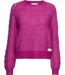 cool with wool sweater stickad tröja rosa odd molly