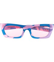 retrosuperfuture fred camouflage sunglasses - pink