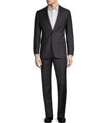 calvin klein men's wool extreme slim-fit suit - grey - size 40 l