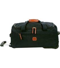brics x-bag 21-inch rolling carry-on duffle bag - green