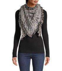printed fringed-trim scarf