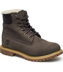 6in prem shearling dk gry shoes boots ankle boots ankle boot - flat timberland