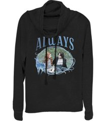fifth sun harry potter snape and lily always portrait cowl neck women's pullover fleece