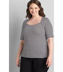 lane bryant women's perfect sleeve bolero top 34/36 horizontal stripe