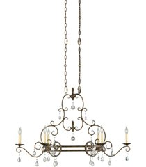 feiss chateau 6-light single-tier chandelier