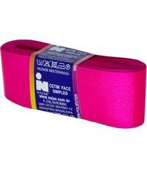 fita de cetim nº09 38mm peça com 10m rosa petúnia