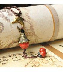 collana delphis vintage ciondolo tondo in rilievo piccola campana collana di fascino gioielli etnici per le donne