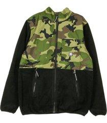 pile fleece channing mock jacket