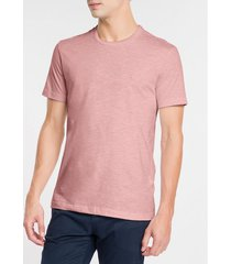 t-shirt slim flamê mescla - rosa claro - pp