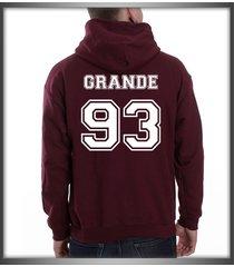grande 93 white ink ariana grande printed on back of maroon hoodie s to 3xl