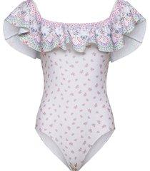 hailey swimsuit baddräkt badkläder rosa by malina