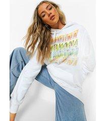 gelicenseerde nirvana hoodie, white