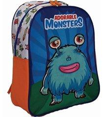 mochila azul m.e international monstern