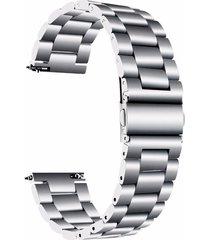20mm de ancho de banda de acero inoxidable hebilla de mariposa pulsera