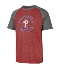 '47 brand philadelphia phillies men's tri-blend raglan t-shirt
