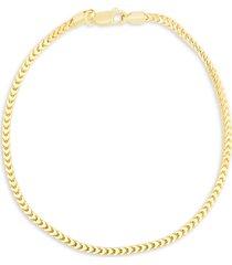 chloe & madison women's 14k yellow gold vermeil chain anklet