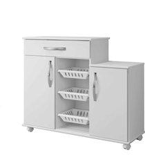 armário cozinha com fruteira teresina arte móveis cor:branco