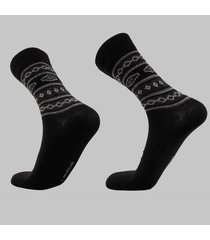 calcetin de vestir de alpaca negro andina outdoors