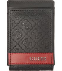 guess men's mesa logo embossed rfid wallet