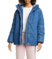 women's rag & bone denim puffer coat