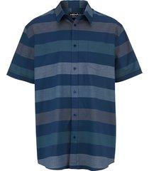 overhemd men plus donkerblauw::groen::wit