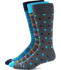 unsimply stitched men's 3-pack polka dot-print crew socks